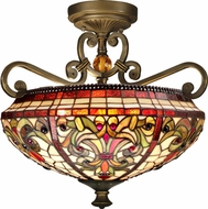 Dale Tiffany TH13090 Baroque Tiffany Antique Golden Sand Home Ceiling Lighting