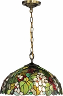 Dale Tiffany TH13114 Paloma Tiffany Antique Brass Hanging Pendant Lighting