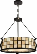 Dale Tiffany TH13187 Sandy Beach Tiffany Dark Bronze Drum Hanging Lamp