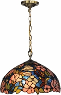Dale Tiffany TH14246 Floral Tiffany Tiffany Bronze Hanging Pendant Lighting