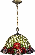 Dale Tiffany TH14250 Misty Rose Tiffany Tiffany Bronze Drop Lighting