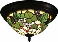 Dale Tiffany TH14257 Tiffany Grape Tiffany Tiffany Bronze Flush Mount Lighting