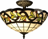Dale Tiffany TH14258 Reveli Tiffany Tiffany Bronze Overhead Lighting
