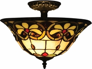 Dale Tiffany TH14259 Reservoir Tiffany Tiffany Bronze Flush Mount Light Fixture