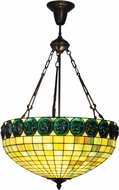 Dale Tiffany TH15116 Turtleback Tiffany Antique Bronze Ceiling Pendant Light