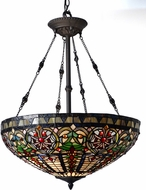 Dale Tiffany TH15120 Fire Opal Tiffany Tiffany Bronze Hanging Light