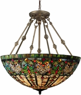 Dale Tiffany TH15123 Montezuna Tiffany Antique Bronze Pendant Lighting