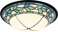 Dale Tiffany TH15477LED Green Leaves Tiffany Tiffany Bronze LED Ceiling Lighting