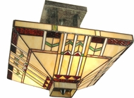 Dale Tiffany TH70332 San Carlos Tiffany Antique Bronze Ceiling Light