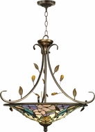 Dale Tiffany TH90224 Peony Antique Golden Sand Ceiling Light Pendant