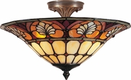 Dale Tiffany TM100598 Dylan Tiffany Antique Brass Overhead Lighting