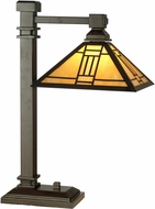 Dale Tiffany TT100016 Noir Tiffany Mica Bronze Table Lamp
