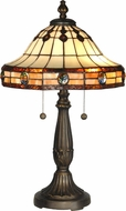 Dale Tiffany TT10034 Jeweled Mission Antique Golden Sand Table Lighting