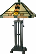 Dale Tiffany TT10035 Martin Tiffany Dark Antique Bronze Lighting Table Lamp