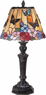 Dale Tiffany TT100587 Butterfly / Peony Tiffany Fieldstone Table Lamp Lighting