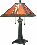 Dale Tiffany TT100716 Amber Monarch Mica Bronze Table Lamp