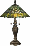 Dale Tiffany TT100914 Leavesley Tiffany Fieldstone Lighting Table Lamp