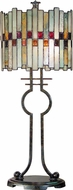 Dale Tiffany TT101014 Haskey Modern Antique Bronze Table Top Lamp