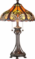 Dale Tiffany TT101033 Bellas Tiffany Antique Bronze Table Lighting