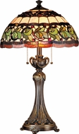 Dale Tiffany TT101110 Aldridge Tiffany Antique Bronze Table Lamp