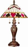 Dale Tiffany TT101420 Royal Flush Tiffany Fieldstone Table Top Lamp
