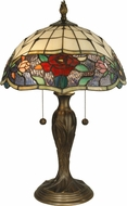 Dale Tiffany TT10211 Malta Tiffany Antique Bronze Side Table Lamp