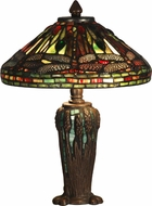 Dale Tiffany TT10333 Dragonfly Tiffany Antique Bronze / Verde Table Lamp