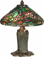 Dale Tiffany TT10334 Floral Leaf Tiffany Antique Bronze / Verde Table Light