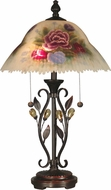 Dale Tiffany TT10449 Hand Painted Leaves Antique Golden Sand Table Lamp