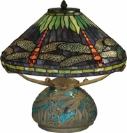 Dale Tiffany TT10518 Dragonfly Tiffany Antique Bronze Table Light