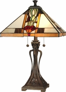 Dale Tiffany TT10533 Natalie Tiffany Antique Bronze Lighting Table Lamp
