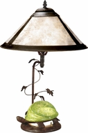 Dale Tiffany TT10840 Mica Green Turtle Antique Bronze Lighting Table Lamp