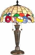Dale Tiffany TT10956 Billiards Tiffany Fieldstone Side Table Lamp