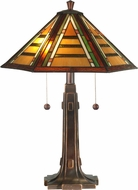 Dale Tiffany TT11049 Grueby Tiffany Antique Golden Sand Table Lighting