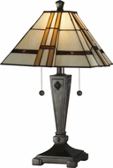Dale Tiffany TT11051 Atherton Tiffany Mica Bronze Table Lamp Lighting