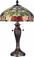 Dale Tiffany TT12232 Zenia Rose Tiffany Fieldstone Table Lighting