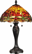 Dale Tiffany TT12269 Reves Dragonfly Tiffany Fieldstone Lighting Table Lamp