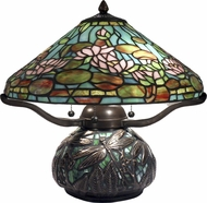 Dale Tiffany TT12330 Alcoba Tiffany Antique Bronze Side Table Lamp