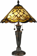 Dale Tiffany TT12368 Villoria Tiffany Fieldstone Table Lamp Lighting