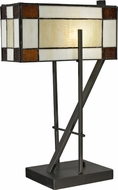 Dale Tiffany TT12414 Diamond Hill Tiffany Dark Bronze Side Table Lamp