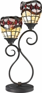 Dale Tiffany TT12426 Fall River Tiffany Dark Bronze Table Lamp