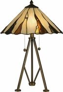 Dale Tiffany TT12436 Ripley Tiffany Copper Bronze Table Lighting