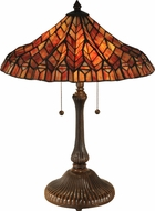 Dale Tiffany TT13059 Red Lotus Tiffany Antique Bronze Table Lamp