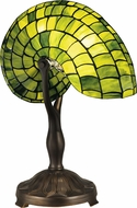 Dale Tiffany TT13116 Green Nautilus Modern Antique Bronze Table Top Lamp