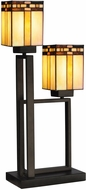 Dale Tiffany TT13193 Biscayne Tiffany Dark Bronze Table Lighting