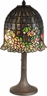 Dale Tiffany TT13214 Flowering Lotus Tiffany Antique Brass Table Lamp
