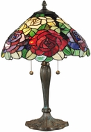 Dale Tiffany TT14114 Tiffany Rose Tiffany Antique Bronze/Verde Table Light