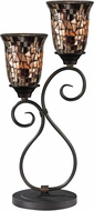 Dale Tiffany TT14169 Amber Shell Tiffany Dark Bronze Lighting Table Lamp