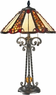 Dale Tiffany TT14242 Flint River Tiffany Dark Bronze Table Lamp Lighting