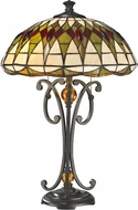 Dale Tiffany TT14243 Converse Tiffany Dark Bronze Table Top Lamp